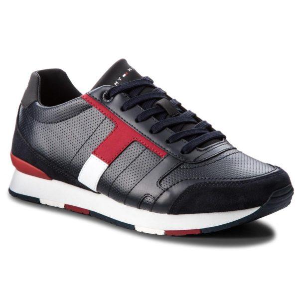Ανδρικά Παπούτσια - Επώνυμα Παπούτσια Προσφορες - TOMMY HILFIGER Corporate Leather Mix Sneaker