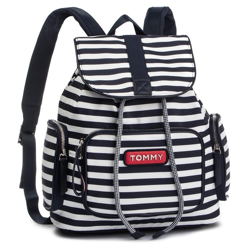 b0b8cdee52 Click to enlarge. Αρχική σελίδαACCESSORIESΤΣΑΝΤΕΣ Tommy Hilfiger Varsity  Nylon Stripe Backpack AW0AW06239 902